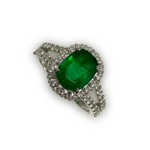 Emerald Oval Ring 2.06 cts
