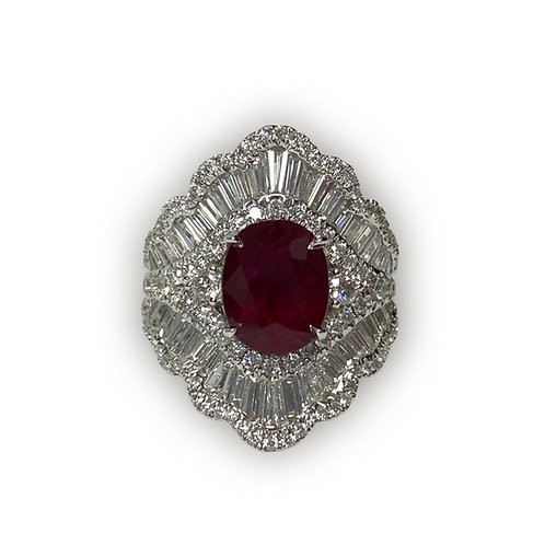 Ruby Oval Ring 3.11 cts
