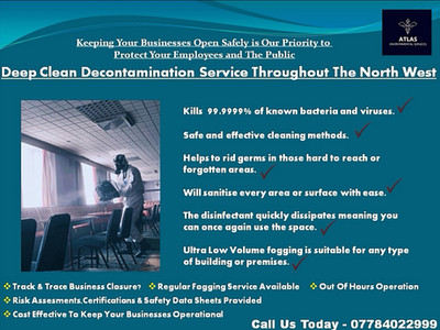 Coronavirus Deep Clean Decontamination Service Throughout The North West.....