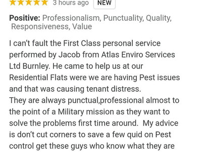 Burnley's Leading Commercial Pest Control Specialists.....