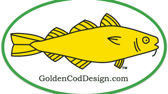 GoldenCodDesign.com Decal