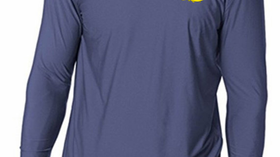 Blue UV Protection and Moisture Wicking - Long Sleeve Shirt