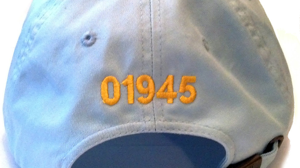 '01945' Light Blue Hat