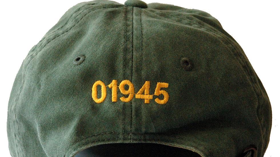 '01945' Green Hat