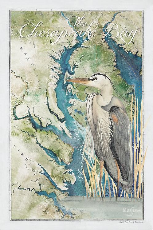 """The Chesapeake Bay & Great Blue Heron"""