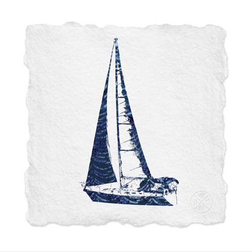 Shibori Sailboat