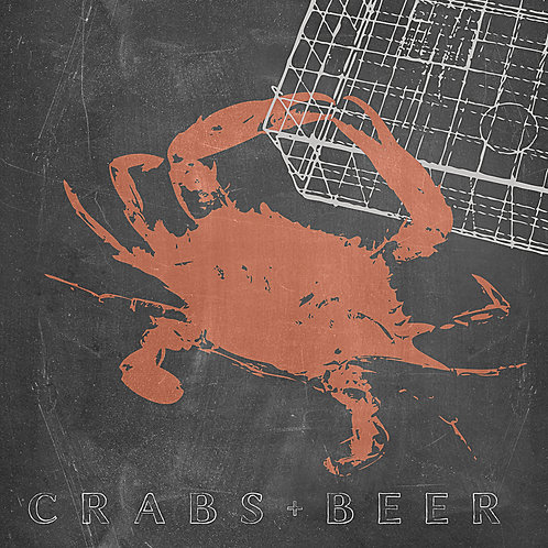 """""""Crabs & Beer"""" Giclee Canvas Wrap"""