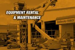 Equipment Rental & Maintenance