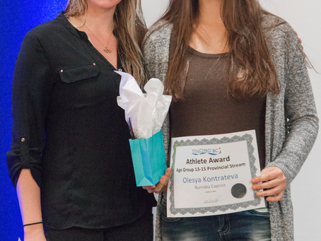 Caprice Athletes and Officials Honoured at Annual Synchro BC Awards Banquet