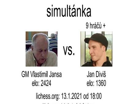 Simultánka s legendárním GM Vlastimilem Jansou