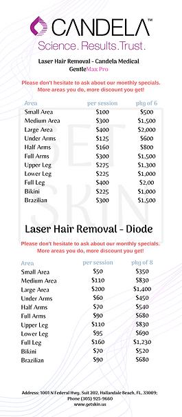 getskin price list candela laser gentle maxpro diode laser hair removal