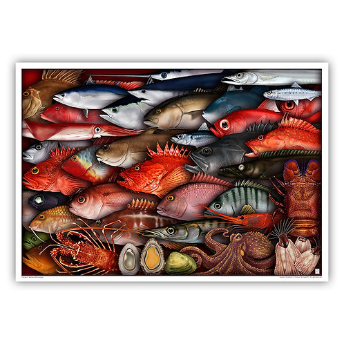 Open Edition Archival Print - Azores Seafood 64x45