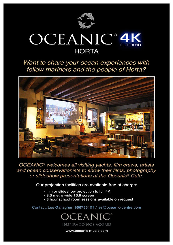 4K projection at Oceanic - Horta, Azores