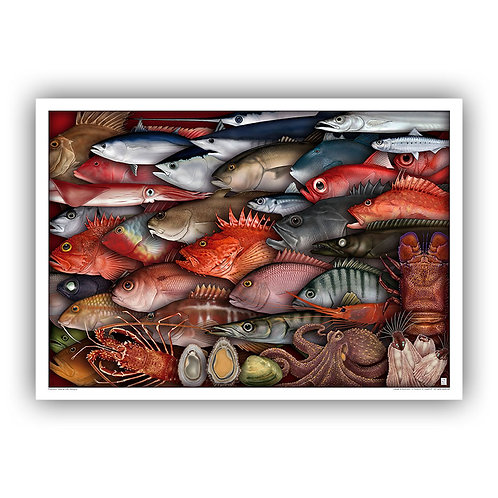Azores Seafood - decorative print