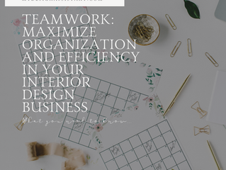 Teamwork for your Design Business