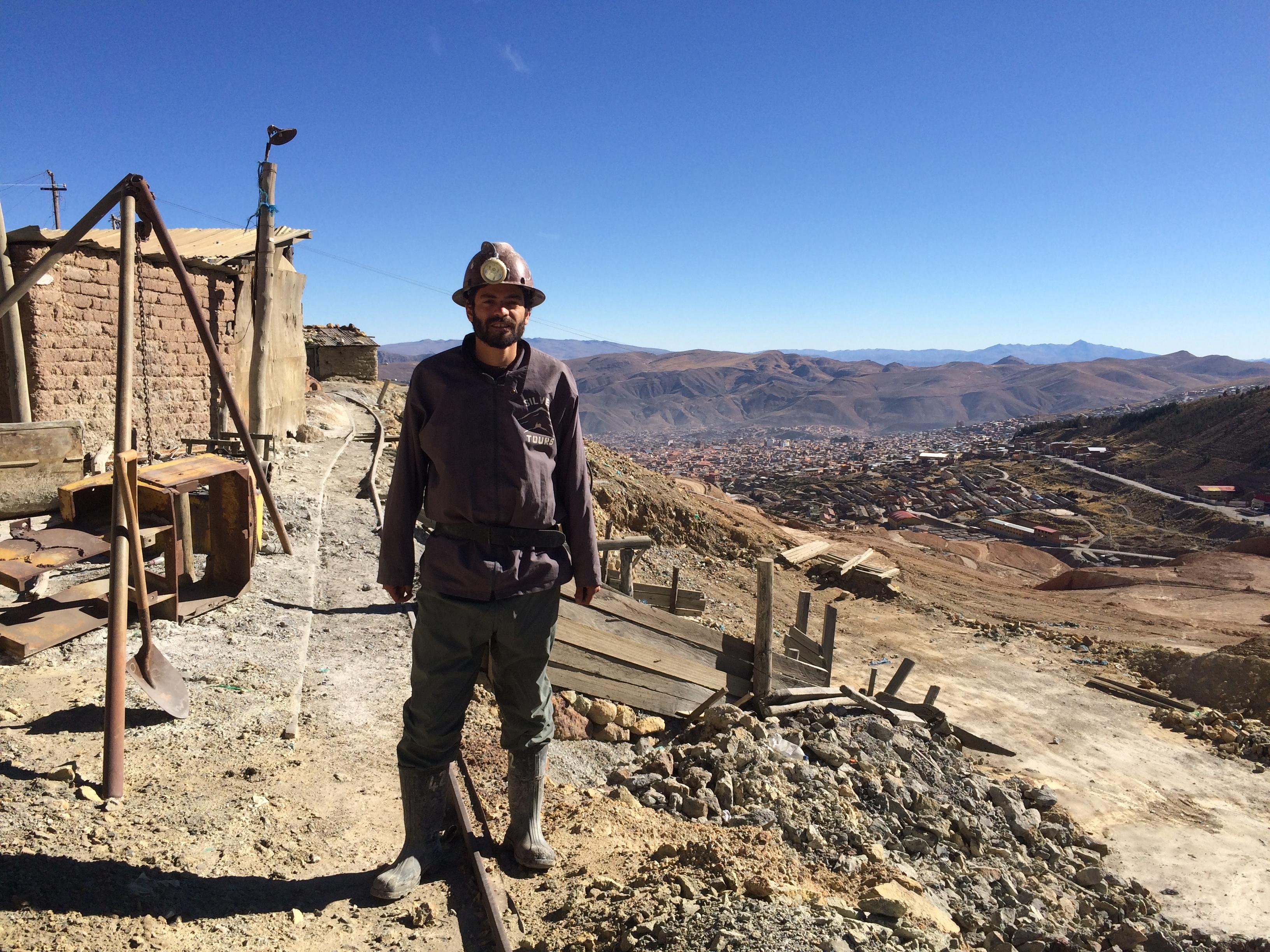 Por entrar a la mina
