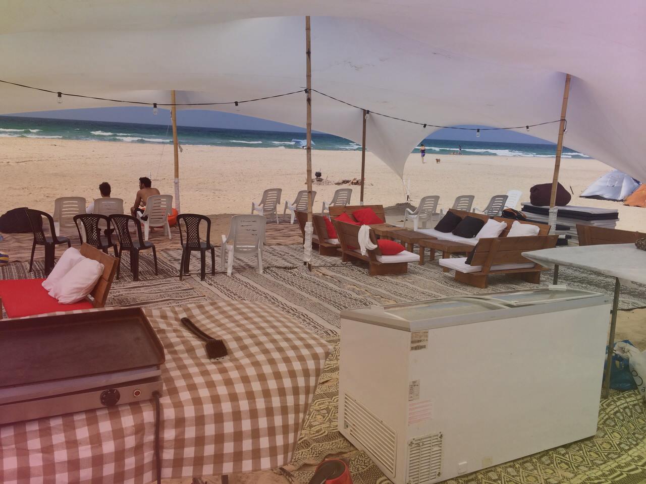 מפגש משפחות בחוף