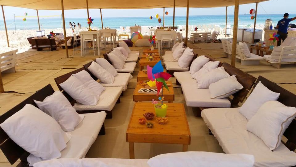 מתחם אירוח חוף אירוע חברה בים