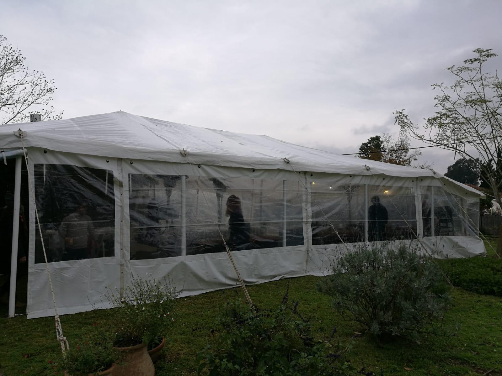 אוהל אירועים 100 אורחים