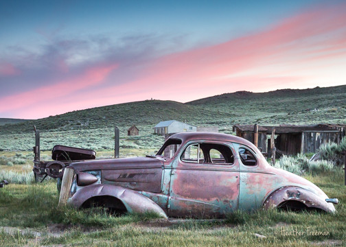 Abaonded Car At Sunset in Bodie, HF26, H