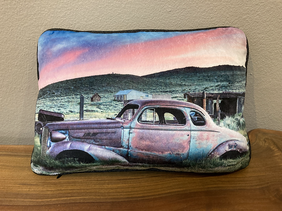 Pillow: Abandoned Car At Sunset In Bodie