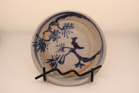 Ceramic Plate: Bluebird on Branch, Small