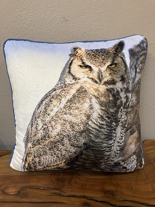Pillow: Great Horned Owl, Bishop