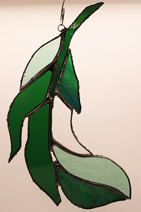 Green Curved Spirit Feather