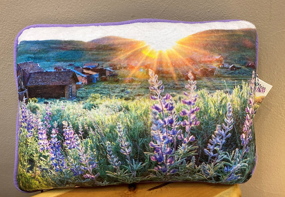Pillow: Bodie Lupines At Sunset