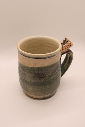 Ceramic Mug: Green, Large