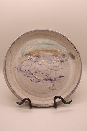 Ceramic Plate: Mountains without Border, Medium