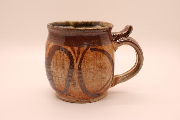 Ceramic Mug: Deep Brown + Circles