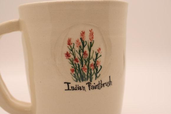 Wildflower Mug: Indian Paintbrush