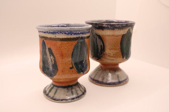 Ceramic Tumblers: Orange + Green