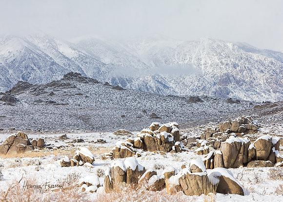 Wintery Buttermilk Boulders