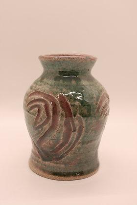 Maroon + Green Vase, Small
