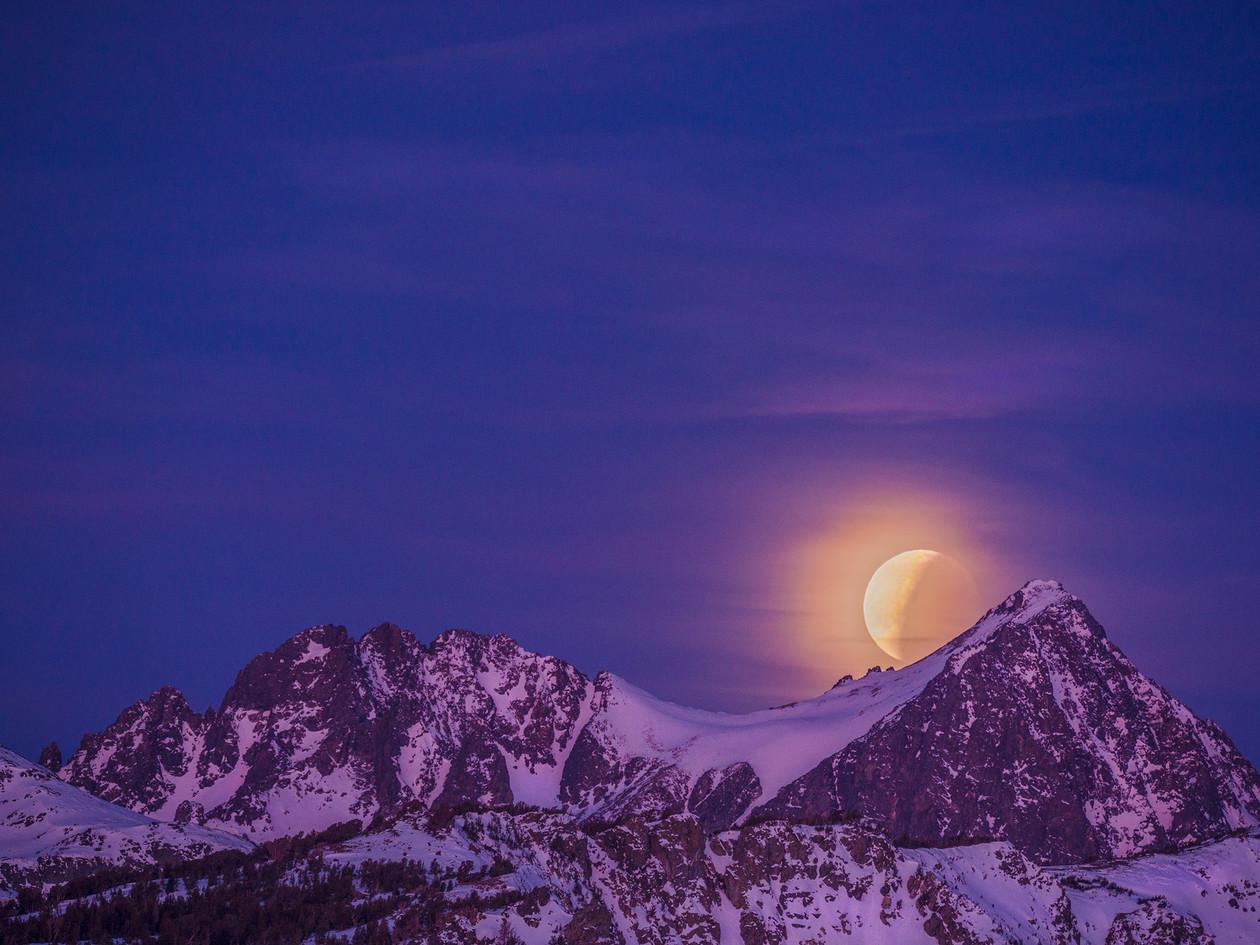 Eclipse Behind Mt. Ritter