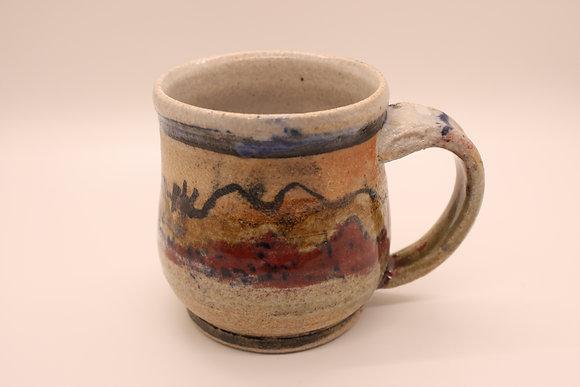 Ceramic Mug: Red Mountains, Small