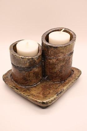Raku Candleholders