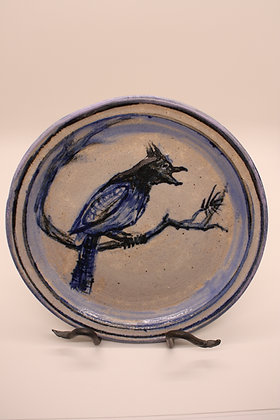Ceramic Plate: Bluebird, Medium