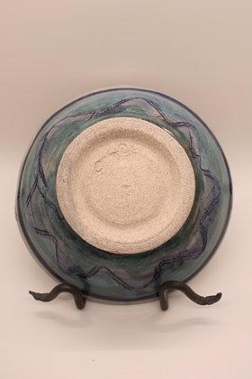 Ceramic Bowl: Blue + Turquoise Tones, Medium
