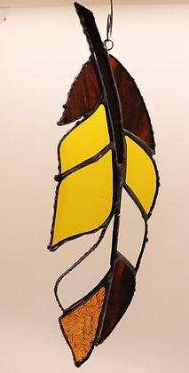 Yellow + Brown Spirit Feather