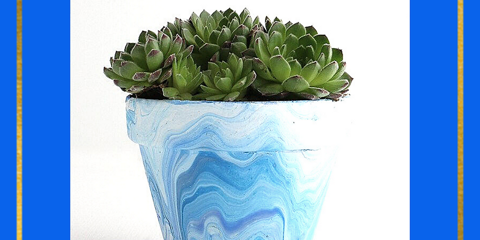 Planter Marbling: with Dani Guthrie