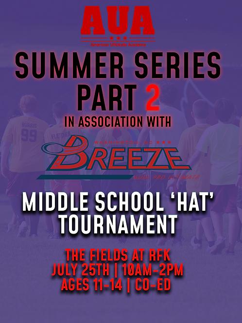 Middle School HAT Tournament   Washington D.C.   July 25