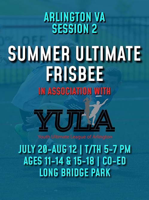 Arlington Summer Ultimate Training Session #2