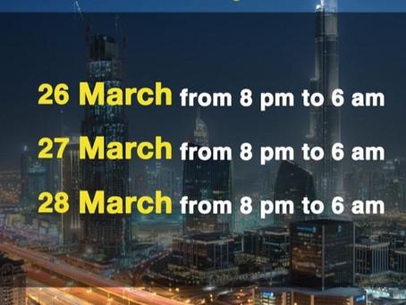 Covid-19 Dubai Lockdown 8PM Thursday until Sunday 6 am