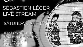 Live Streaming Sebastien Leger Saturday 25th April