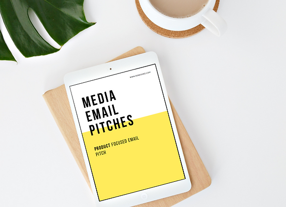 Media Email Pitch - Product Template