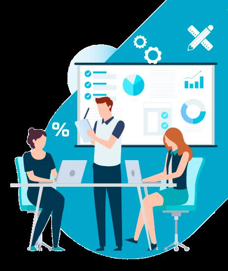 Ilustração de gestão de projetos