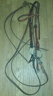 Western Headstall with Snaffle Bit and Reins